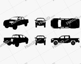 Toyota Tacoma Pickup Silhueta car clipart