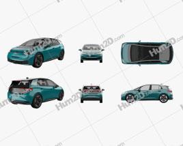 Volkswagen ID.3 2020 car clipart