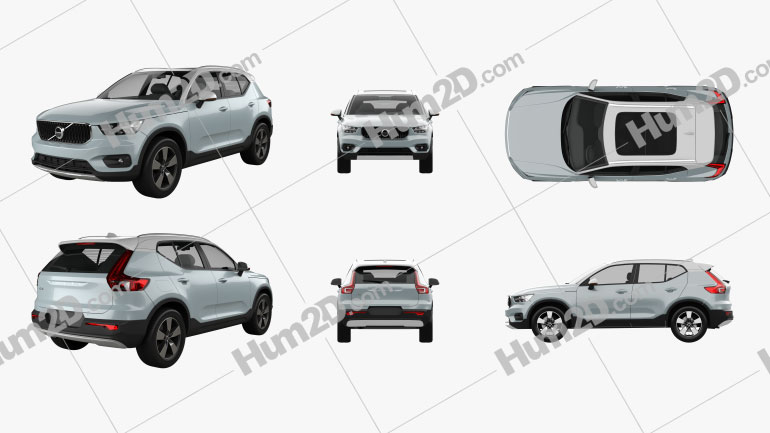 Volvo XC40 2017 PNG Clipart Image